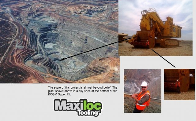 Maxiloc at the Super Pit in Kalgoorlie