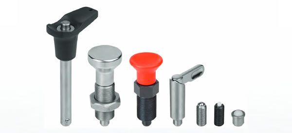Spring Plungers, Indexing Plungers, Ball Lock Pins | Maxiloc Tooling | Kipp Operating Parts
