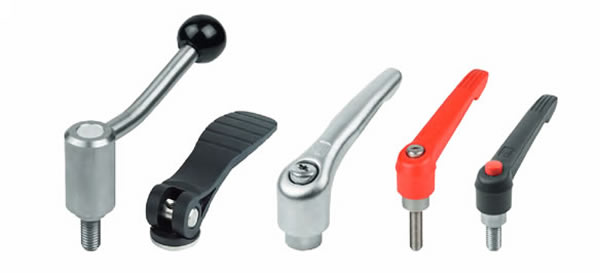 Clamping levers, tension levers, cam levers