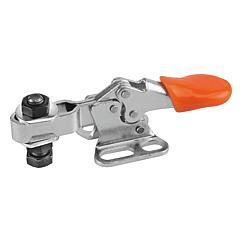 K0069 Kipp Toggle clamps mini horizontal with flat foot and adjustable