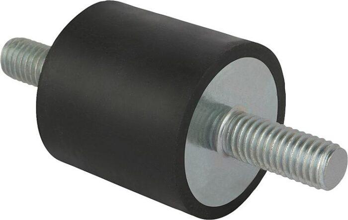K0566 Kipp Rubber buffers steel or stainless steel, type A