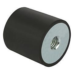 K0569 Kipp Rubber buffers steel or stainless steel, type C