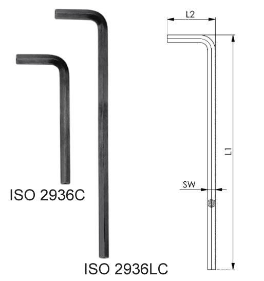 AMF Metric Hexagon keys ISO 2936C and 2936LC