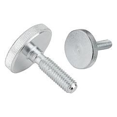 K1163 Kipp Knurled screws low head steel and stainless steel, DIN 653
