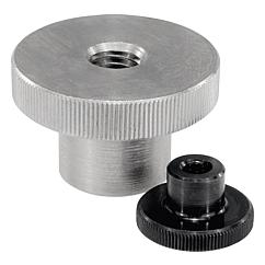 K0143 Knurled Nuts high form steel and stainless steel Din 466 06110