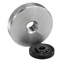 K0144 Knurled nuts flat steel and stainless steel 06120
