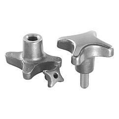 K0147 Kipp Palm grips grey cast iron, DIN 6335