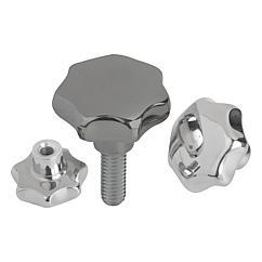 K0150 Kipp Star grips stainless steel, similar to DIN 6336