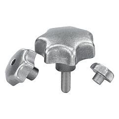 K0151 Kipp Star grips grey cast iron, DIN 6336