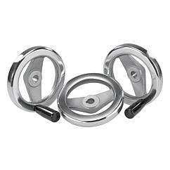 K0162 Kipp handwheels 2-spoke flat rim, aluminium