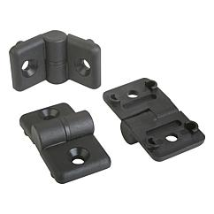 K0438 Kipp hinges plastic, lift-off, with guide tabs