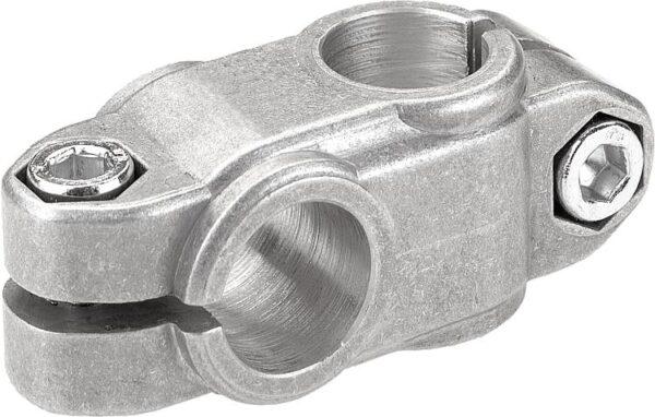 K0472 Kipp tube clamps, cross, aluminium rounded case