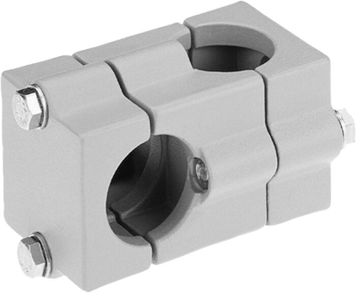 K0472 Kipp tube clamps, cross, aluminium square case