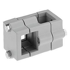 K0473 Kipp tube clamps, cross, aluminium