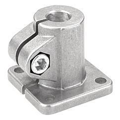 K0477 Kipp tube clamps, base, aluminium