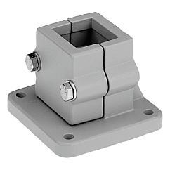 K0478 Kipp tube clamps, base, aluminium