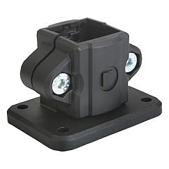 K0478 Kipp tube clamps, base, plastic