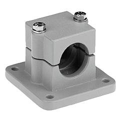K0479 Kipp tube clamps, flange, aluminium, square