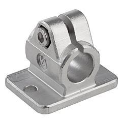 K0479 Kipp tube clamps flange stainless steel