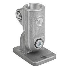 K0490 Kipp tube clamps, swivel base, aluminium