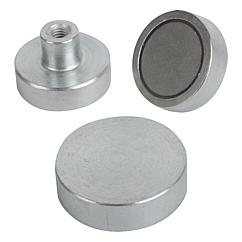 K0550 Kipp magnets shallow pot SmCo