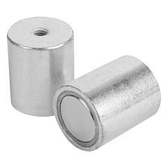 K0552 Kipp magnets deep pot with internal thread NdFeB