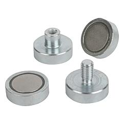 K0553 Kipp magnets shallow pot NdFeB