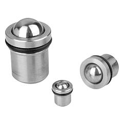 K0582 Kipp Spring plungers with detent ring