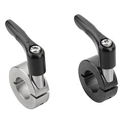 K0611 Kipp shaft collars one-piece with clamping lever