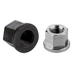 K0701 Hexagon nuts with collar height 1.5xD, DIN 6331 enhanced