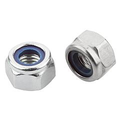 K1147 Kipp Hexagon nuts with polyamide thread lock high type, DIN 982 / stainless steel similar to DIN 982