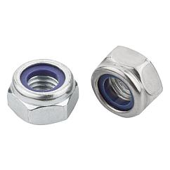 K1148 Kipp Hexagon nuts with polyamide thread lock thin type, DIN 985