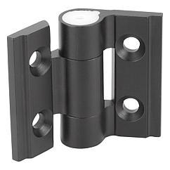 K1195 Kipp hinges aluminium, with adjustable friction