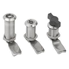 K1352 Kipp quarter-turn locks, stainless steel long version