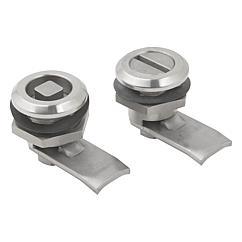 K1360 Kipp quarter-turn locks, stainless steel