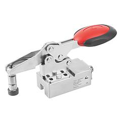 K1463 Kipp toggle clamps, horizontal, stainless steel with safety interlock