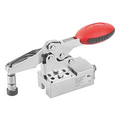 K1463 Kipp toggle clamps, horizontal, stainless steel with force sensor