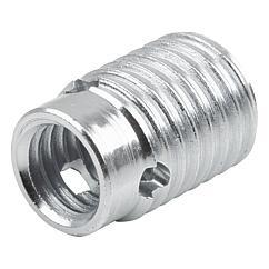 K1538 Kipp Threaded insert, steel, self-tapping, type B