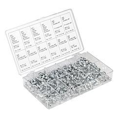 K1539 Kipp grease nipple, steel, assortment box