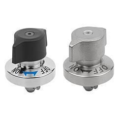 K1558 Kipp quarter-turn clamp lock steel, rotary knob