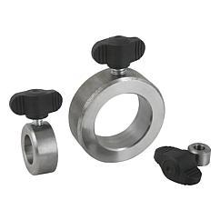 K0407 Kipp Shaft collars with wing grip similar to DIN 705, steel