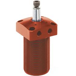 AMF Swing clamp, pneumatic, flange-mounting version 6829KR/KL