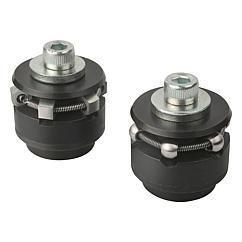 K0358 Kipp Centring clamps with ball or hexagon segments