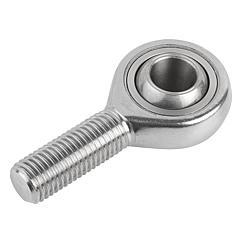 K0720 Kipp Rod ends with plain bearing external thread, stainless steel