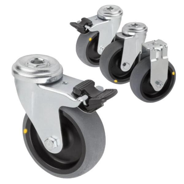 K1759 Kipp swivel and fixed castors electrically conductive, standard version