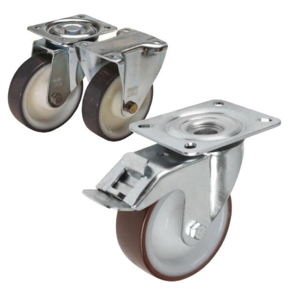 K1764 Kipp Swivel and fixed castors standard version