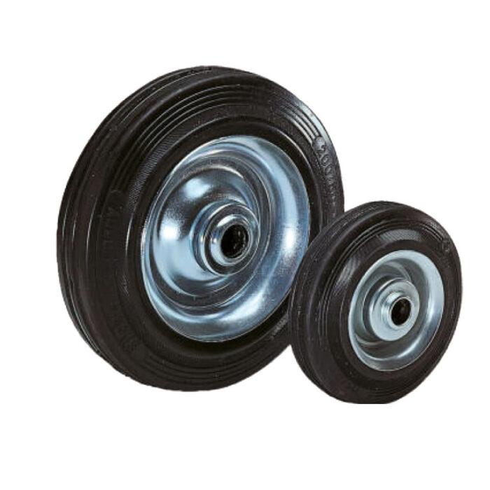 K1776 Kipp wheels rubber tyres on steel plate rims
