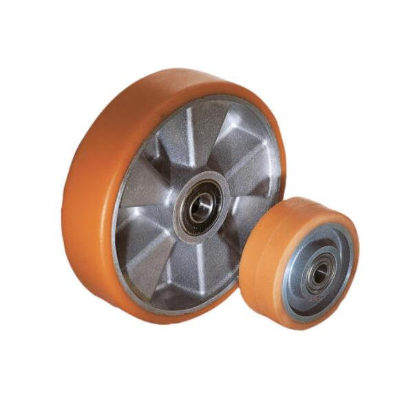 K1780 Kipp Wheels aluminium rims with injection-moulded tread
