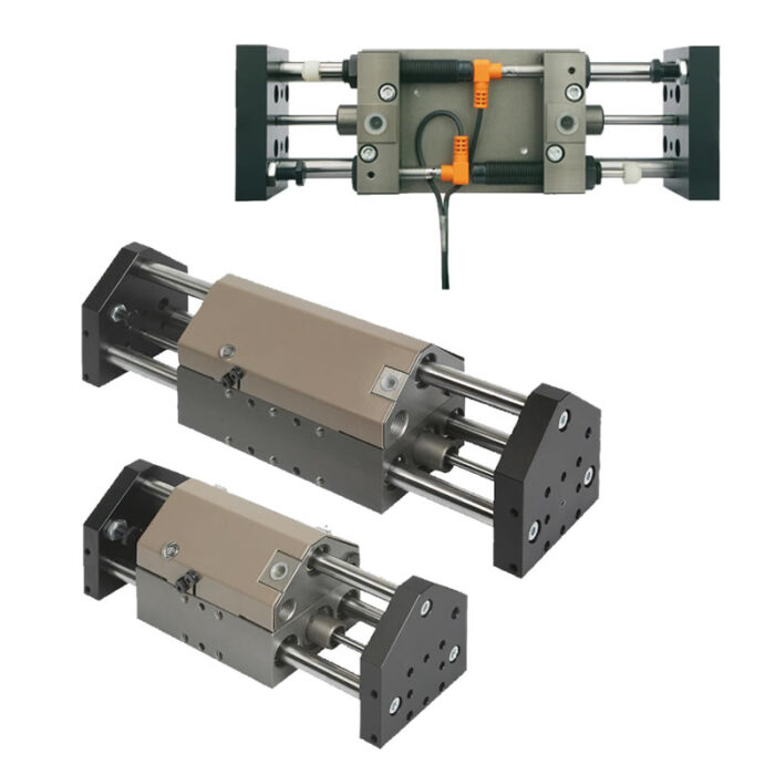 Norelem 20000 Linear modules pneumatic with three round guides