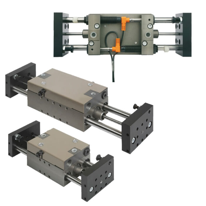 Norelem 20000 Linear modules pneumatic with two round guides